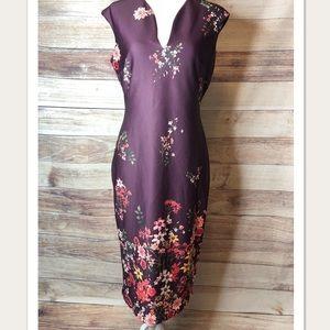 New York & Co V-Neck Sheath Dress size Medium